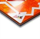 Geometric Orange. Jessica B Acrylic print