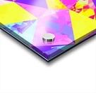 geometric triangle polygon pattern abstract in pink purple blue yellow Acrylic print