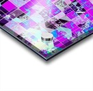 geometric square pattern abstract in purple blue Acrylic print