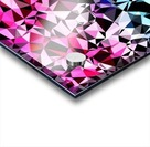 geometric triangle pattern abstract in pink blue black Acrylic print
