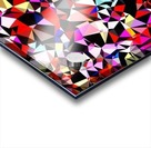 geometric triangle pattern abstract in red pink black blue Acrylic print