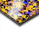 geometric triangle pattern abstract in orange blue yellow Acrylic print