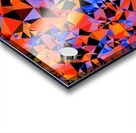 geometric triangle pattern abstract in blue orange red Acrylic print