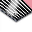 Black & White Stripes with Cherry Patch Acrylic print