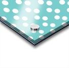 Dark Slate Gray Polka Dots Acrylic print