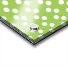 Dark Olive Green Polka Dots Acrylic print