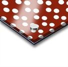 Crimson Polka Dots Acrylic print