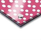 CRANBERRY Polka Dots Acrylic print