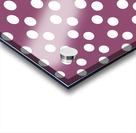 BURGUNDY Polka Dots Acrylic print