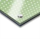 Green Blush Heart Shape Pattern Acrylic print