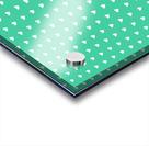 Shamrock Heart Shape Pattern Acrylic print