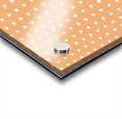 Sandy Brown Heart Shape Pattern Acrylic print