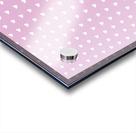 Spring Pink Heart Shape Pattern Acrylic print