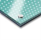 Teal Green Heart Shape Pattern Acrylic print