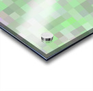 geometric square pixel pattern abstract in green and pink Acrylic print
