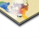Hot And Vivid Watercolor Map Of The World Acrylic print