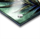 GREEN METALLIC PALM TREE LEAF TROPICAL DESIGN Acrylic print