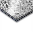 Shades of grey floral abstract  Acrylic print