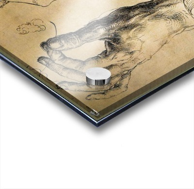 Study of Three Hands Acrylic print