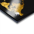 Golden World Map Acrylic print