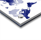 navy blue world map with outlined countries Acrylic print