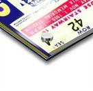 1969 Cal Bears Ticket Stub Acrylic print