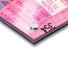 1961 usc pitt panthers football ticket stub poster print metal wood tickets Acrylic print