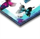 Whimsical Morpho Butterflies in Vivid Colors Acrylic print