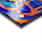 Blue Orange Clash Acrylic print
