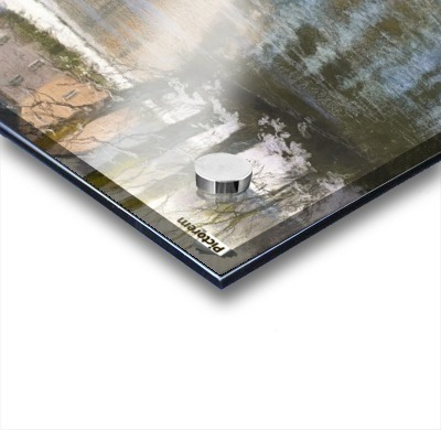 Snowy landscape Impression Acrylique