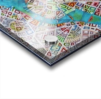 imaginary map of Boston Impression Acrylique