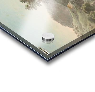 River Landscape with Distant Cliffs Acrylic print