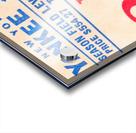 vintage yankees ticket stub metal sign Acrylic print