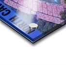 1976 duke north carolina vintage college football ticket art for the wall Acrylic print