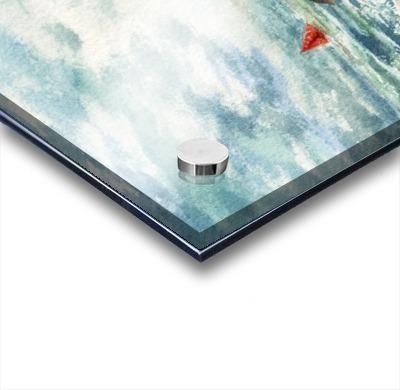 Red Sails At The Shore Acrylic print