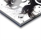 Black and White Pinto Horse Acrylic print