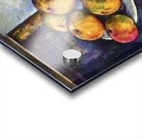 Still life with a bottle and apple cart by Cezanne Acrylic print