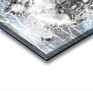 Silver Gray Seashell On Ocean Shore Waves And Rocks III Acrylic print