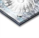 Silver Gray Seashell On Ocean Shore Waves And Rocks V Acrylic print