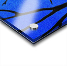 Ultramarine Forest Winter Blues I Acrylic print