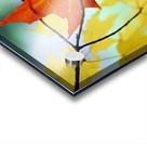 Oregon, United States Of America; An Orange Leaf Fallen On Yellow Leaves Acrylic print