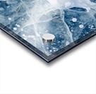 Close Up Of Cracks In The Ice Of Nenana River Near Denali National Park, Southcentral Alaska, Winter Acrylic print