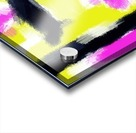 pink yellow and black painting abstract with white background Acrylic print