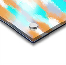 orange and blue painting abstract with white background Acrylic print