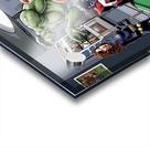 Afterhours: Marvel Superheroes Relax  Playing Pool featuring X-Men & Avengers, Wolverine, Spider-Man, Black Widow, Nightcrawler, Iron Man and Hulk Acrylic print