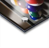 Pool Balls On A Billiard Table With The Eight Ball Facing Upwards Acrylic print