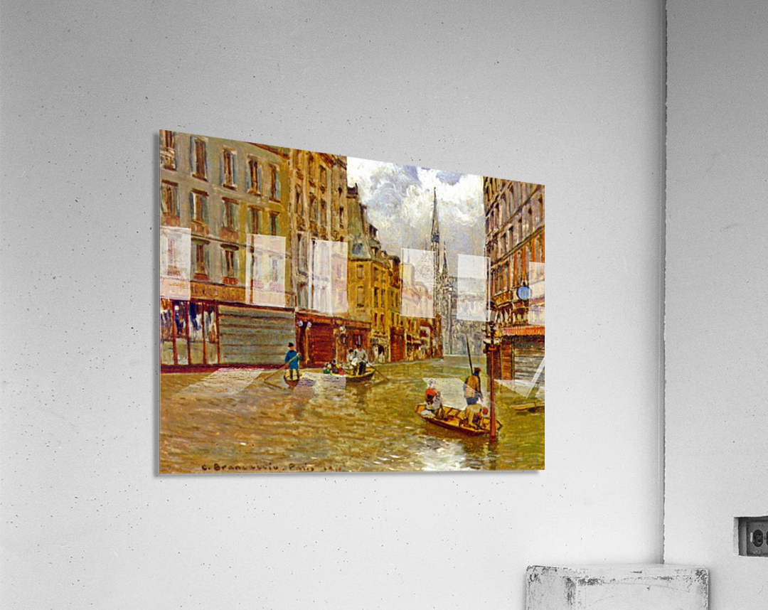 Street in Paris during Flood of 1910  Impression acrylique