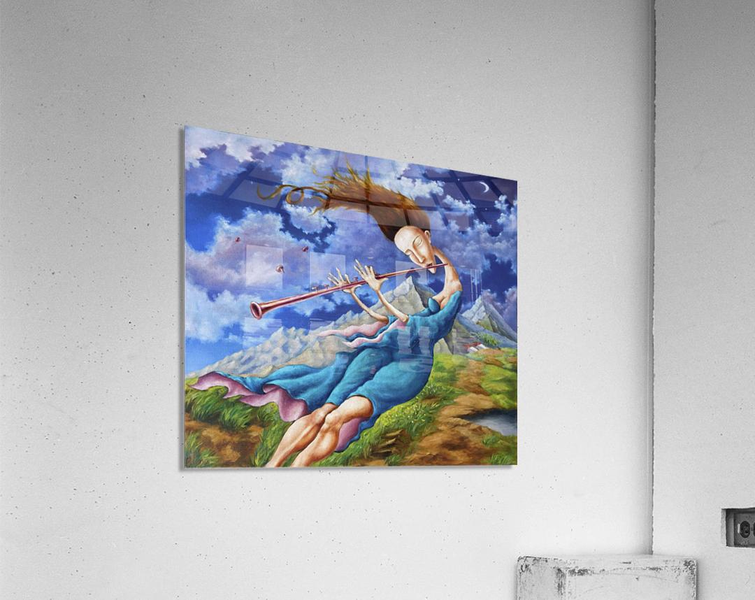 Windy Flutist  Acrylic Print