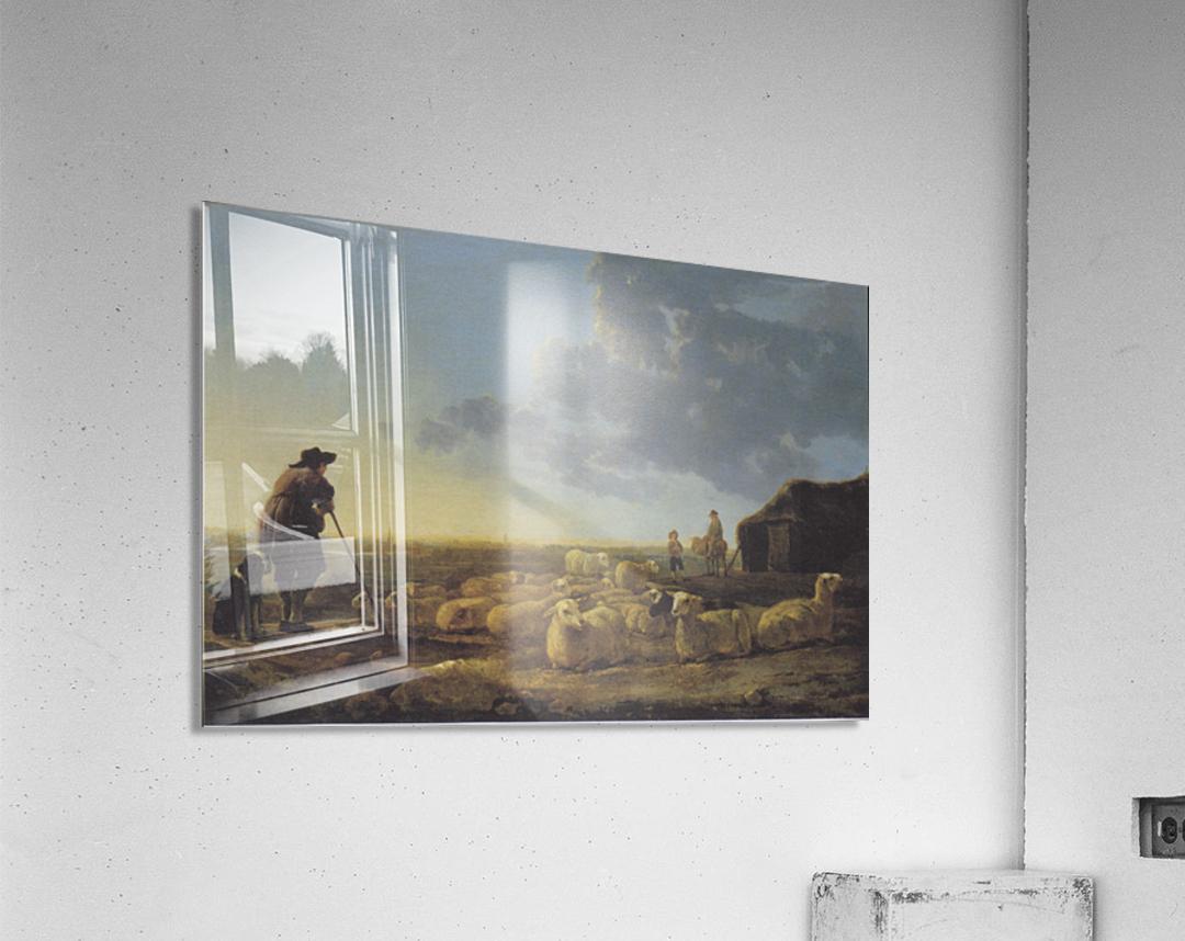 Schafherde auf der Weide  Acrylic Print