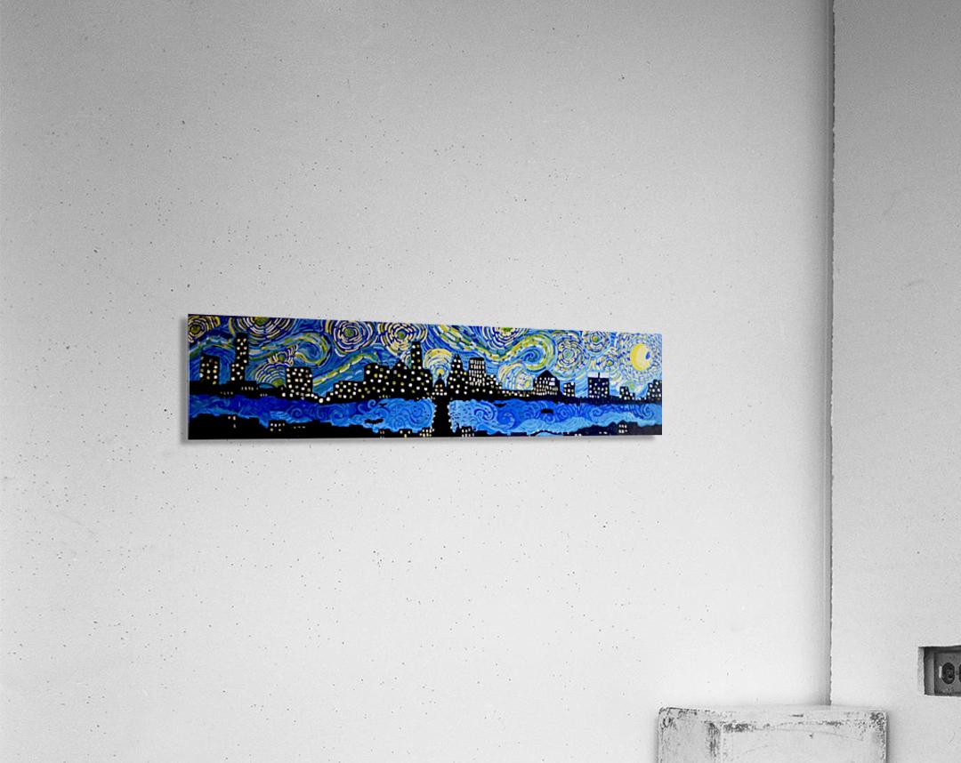 Austin Starry Night. Tala S.  Acrylic Print